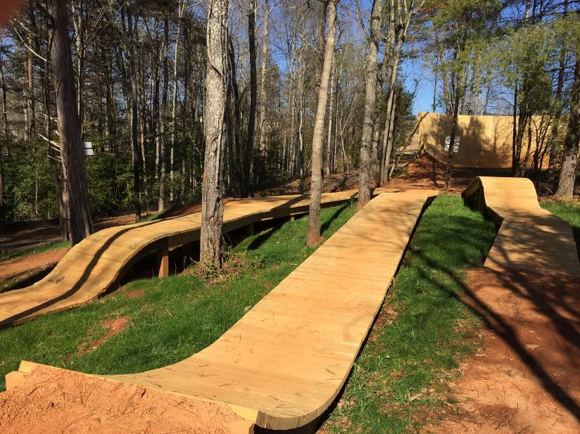 TOWN CREEK BIKE PARK TRIDENT FEATURE